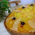 フルーツのチーズケーキタルト
