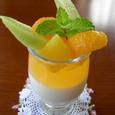 杏仁豆腐とオレンジゼリー