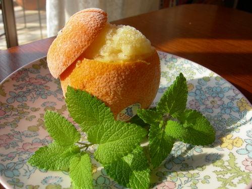 オレンジのシャーベット